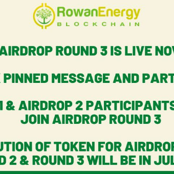 ➡️ Rowan Energy R3 ⬅️  Reward : 55 RWN Referral : 6 RWN  Link : https://t.me/RowanNewRoundAirdropBot?start=307806456  + Join telegram group & channel + Complete other task + Submit details  Done  Note :  Distribution in End Of July 2020