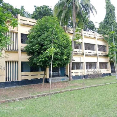 This is a picture of a school we can see here.  It looks very nice.  It is located in our Satkhira district.  The name of this school is PN Secondary School. We can see that the school and the college have been built together.  We can see that a college has been built next to it.  This college also looks very beautiful.  We can see that the standard of education here is very good and many children come here to study.  When we come here we can see that Sir Madam is teaching the students with great care. We can also see that there is a lot of work in front of the school.  We can see that some of the coconut trees here are very nice to see the coconut trees.  We can see a field of green grass in front of the school. It looks very beautiful.  We can see school children playing sports.  We can see white clouds floating in the sky above.  These are very nice to watch. If you like them, subscribe to my channel.
