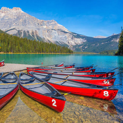 This picture taken country of Canada.Smaller and lesser-known than nearby Jasper and Banff, Yoho boasts scenery that's just as impressive—like thundering waterfalls, turquoise glacier lakes, and craggy mountain peaks. And Yoho only sees a fraction of the visitors that crowd those larger parks each year. Don't miss the walk around Emerald Lake, which rivals Banff's Lake Louise for Instagram-worthy views. Science lovers should also take a guided hike to the Burgess Shale fossil beds, which offer some of the world's most significant marine fossils.