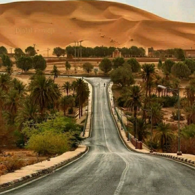 Desert country Africa continent Saudi Arabia and many deserts of this country are as far as the eye can see only desert deserts and pillars have been formed and it can be seen that Babu hill has been formed here The picture I am presenting to you today is a picture of Saudi Arabia  Picture of a huge boy hill and a beautiful high quality road built on the slope of this sand hill so that ejaculation can take place through this road as there is no water available anywhere in this desert area and there is very little vegetation so this road is seen after making this road.  Many trees have been planted on both sides and it is seen that this road has climbed to the top of the hill and the road that has been built on the sloping country on the side of this hill looks beautiful because through this picture people can see the view of this sand hill and  They come here to see how this sand is so beautifully laid out on this mountain and this view they can see very beautifully and this  The road is built by Saudi Arabia Saudi Arabia is a state and the Muslim state is inhabited by people of Muslim religion so it is seen that this beautiful road has been made for people to travel here. This boy's road party has been made of very high quality. This road is very scenic.  Feels great