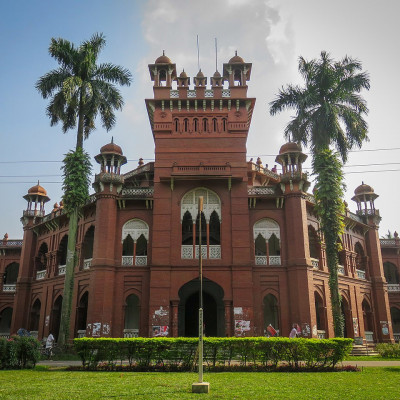 Curzon is a historic building located in Dhaka, the capital of Bangladesh, which is recognized as an antiquity. It was built for the use of Dhaka College. At present it is being used as some classrooms and examination halls of the Faculty of Science and Biology of Dhaka University.