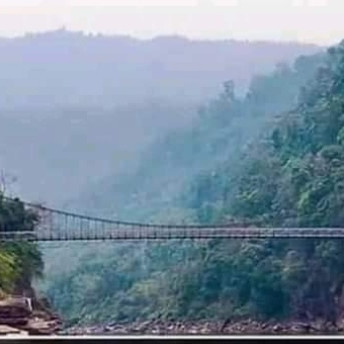 Jaflong is one of the travel destinations of Sylhet division. It is located in Sylhet. This bridge shown in the picture is very beautiful. There are huge tea gardens on both sides of the bridge and Jaflong river below. The view is very beautiful and captivating. It is very beautiful to see when it is raining. That is why this place has become popular among the people who love to travel.