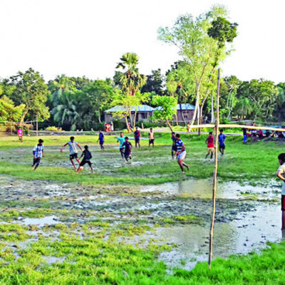The picture you can see is that football is being played here. This football game is our village football game. It is a traditional game of rural Bengal. I like to watch this game.  It is very nice to watch the game. It is a tradition of rural Bengal and it is very popular to watch this game. People come to our area every year from different places to watch this game. We were here this year when I took this picture.  These are very beautiful to play. This scene is very beautiful. It is very nice to see this scene. You can see the green field. It is very nice to see the green field. It is very beautiful to see the green field.  These little kids all love to enjoy this game besides you can see the blue sky the blue sky is so beautiful to see this scene is so beautiful to see  I like to see the raft of white clouds in the blue sky. It's fun to play this game in the rain on the raft of white clouds. I wish you played the game as a child and you had a lot of fun.  Of course like the comment