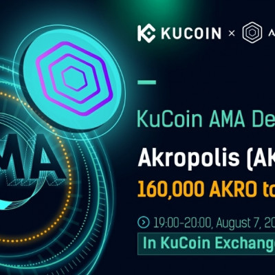 ➡️Akropolis x Kucoin Giveaway⬅️  Reward Pool : 160,000 AKRO  + First Register in exchange : https://www.kucoin.com/ucenter/signup?rcode=KNu2vt + Follow KuCoin and Akropolis on Twitter : https://twitter.com/kucoincom https://twitter.com/akropolisio + Retweet this tweet with a comment including following hashtag: #KuCoinAMA and take a screenshot : https://twitter.com/kucoincom/status/1290231730087972870 + Submit your details to the airdrop form : https://docs.google.com/forms/d/e/1FAIpQLSfb_NIPjlbMCehS1mOyy2MrIgh33HqQ2_7ZnUZRCP7jxX8MOg/viewform  Done