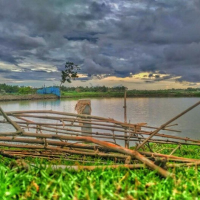 The picture that is seen here is taken from the river of Satkhira district of Bangladesh. In the picture we can see the view of green grass on one side of the river and green plants on the other side.  So the picture looks very beautiful to me and in the picture we can see that there are a lot of bamboos by the river. And the picture also shows the cloudy sky. So in the picture we can see that the river is full of water. And the water is very clear and the greenery on both sides of the river and many houses can be seen in that picture, You are so beautiful to see the amazing variety of natural beauty.  So I think the picture is very beautiful, I hope you will also find it very beautiful and you must share the picture and give others a chance to see.