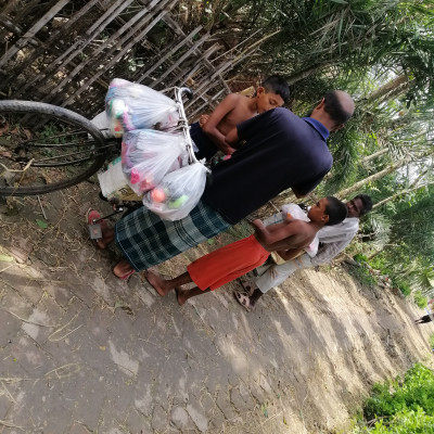 The peddlers have come to the village of Pant on the occasion of Eid. They will not be approached by women for their business.They have bangles, ribbons, nail polish, lipstick, henna and women's accessories sell in rural area.