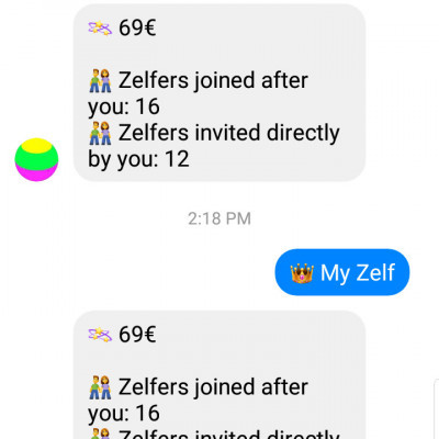 Earn from your messenger apps💸 Until May 31!!!  Join me and get your 5€ boost here 👇😉 https://m.me/zelf.co?ref=CCGNDVW