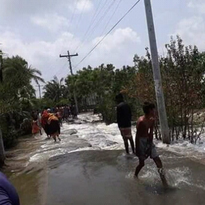 Roads and even embankments have been breached in the flood waters and the people of rural Bengal have suffered a lot when the flood waters overflowed.
