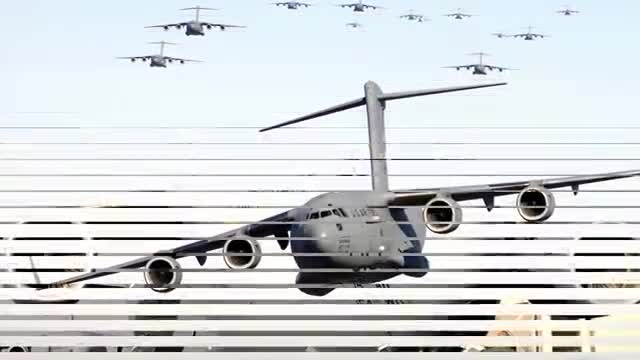 The five largest planes in the world were seen through the video