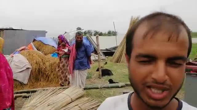 The flood situation in the northern region of Bogra