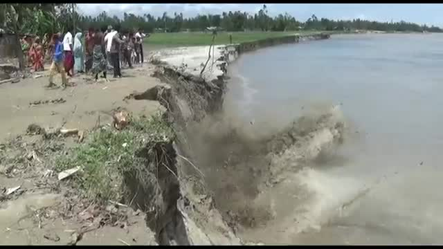 Scene of river erosion in Gaibandha