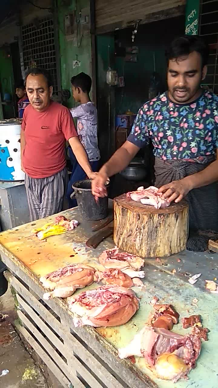Here is a video of how to cut poultry meat