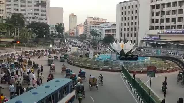 Dhaka's traditional Shapla Chattar
