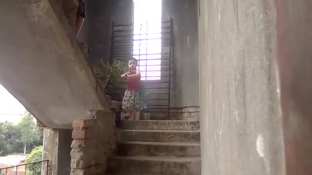 Chakma little girl's amazing dance