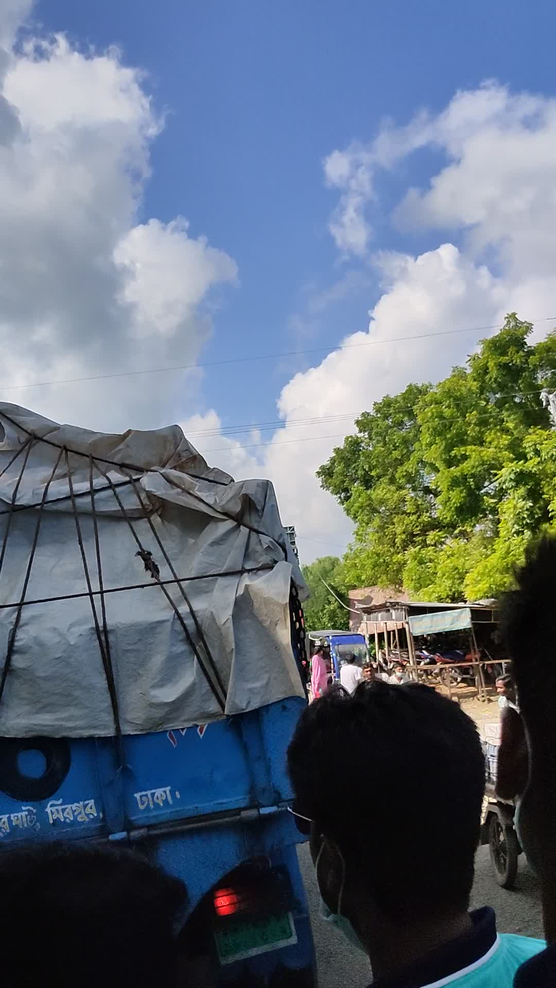 Street View, from the release worker's car,Bangladesh, Satkhira