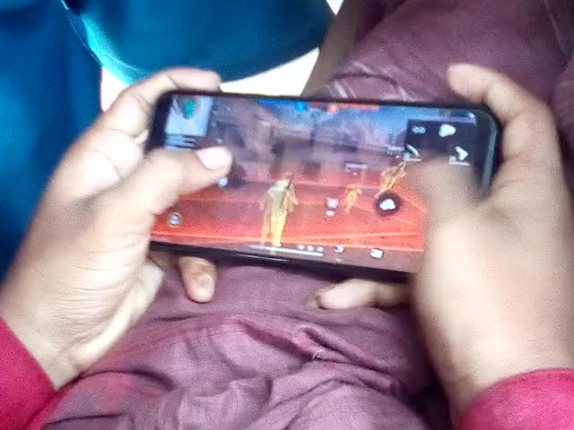 we can see a video of free fire game here. mohammad  jahid hassan was playing free fair. game