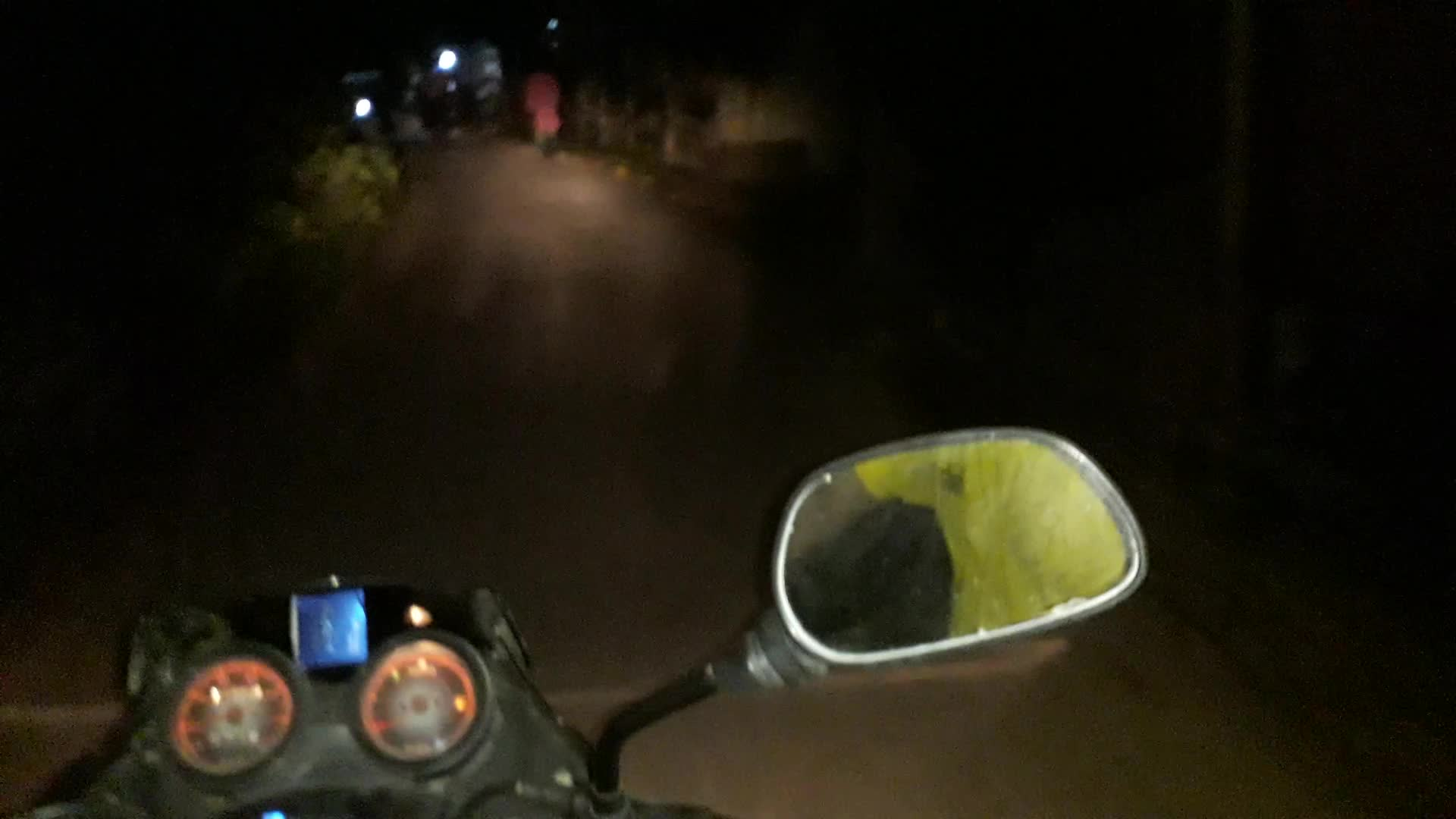The road is very nice to ride and the night is very nice.Riding a bike at a lot of speed is a lot of fun.