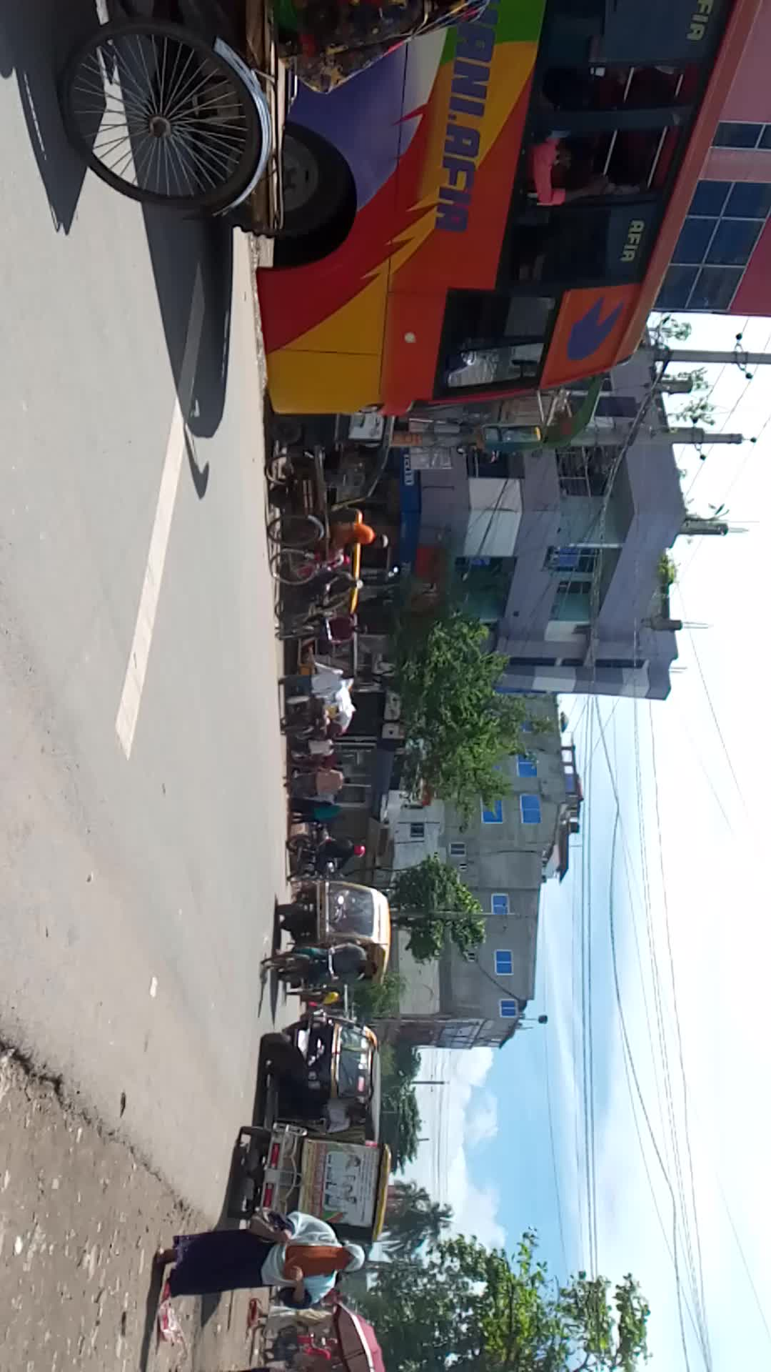 very busy road in Satkhira