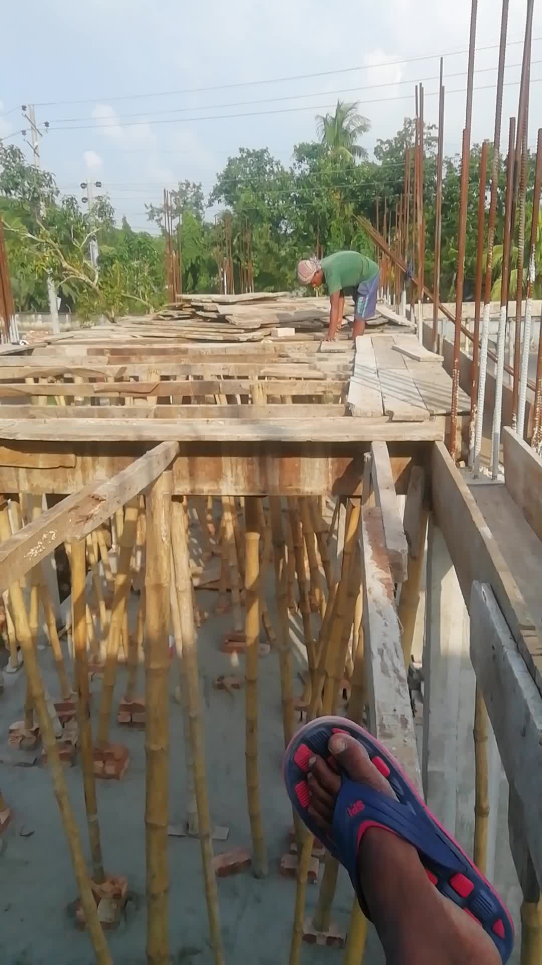 Building work is going on in Satkhira district
