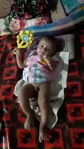 A small cute baby has been born and is growing up in Mymensingh district