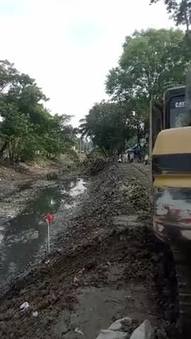 Satkhira canal excavation scene video