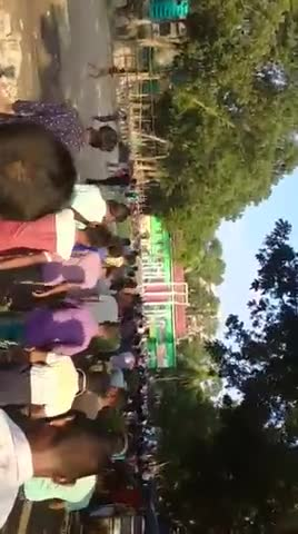 You can see the image of a huge machine here and you can hear the slogans of this procession. You can watch this whole video.