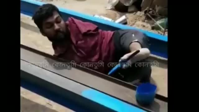 The video you see on the screen is a video of a man from Satkhira district who has been disabled since birth but does not want to live with anyone's mercy.