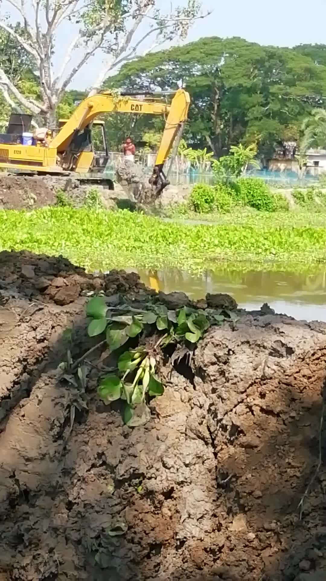 The video that you can see on the screen has been made. A video of the road being dug with Beko machine has been shown to you as it will be plowed on Zeyala road in Satkhira district.
