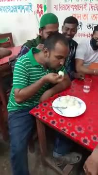 Take a look at how he ate 2 kg of sweets here and he is really eating these sweets with great satisfaction.