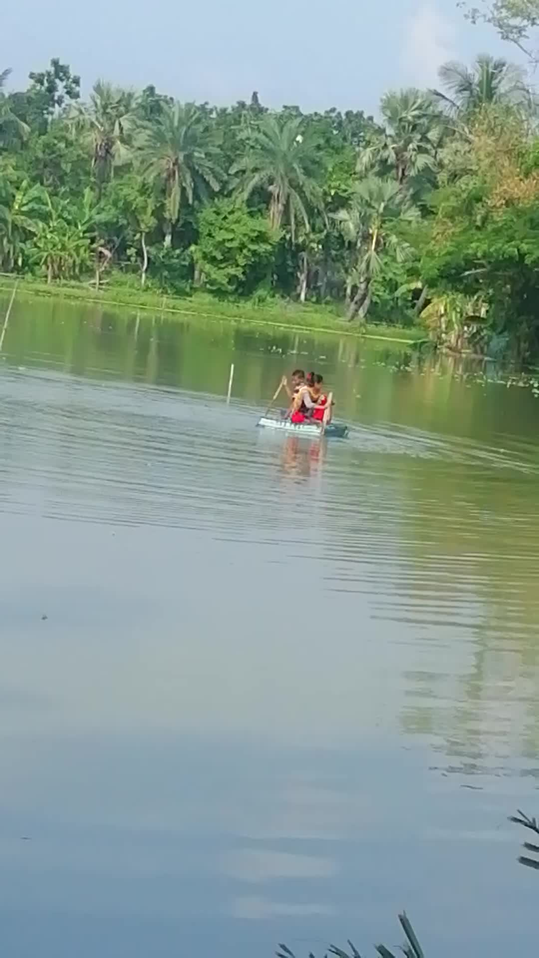 It is very nice to see a video of children playing here inside a house in Zeyala village of Satkhira district