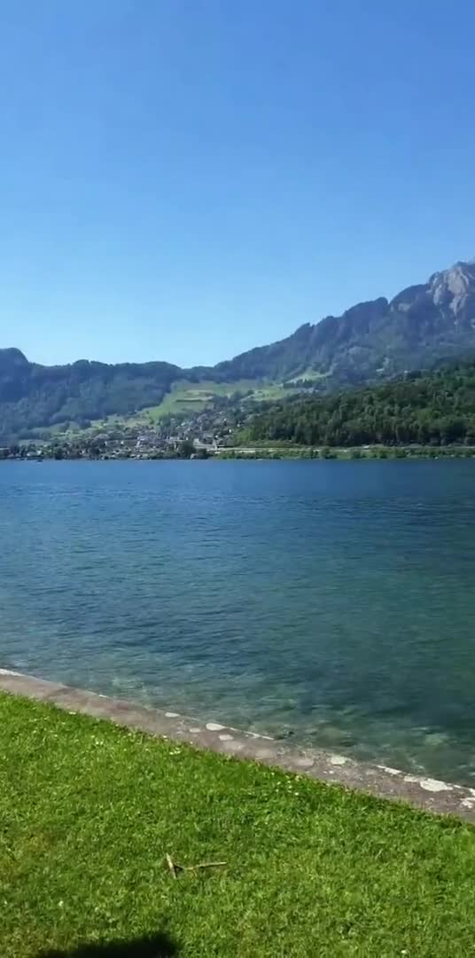 Absolute beauty in a natural environment, see the image of the river on one side and the huge mountains on the other side through this video.