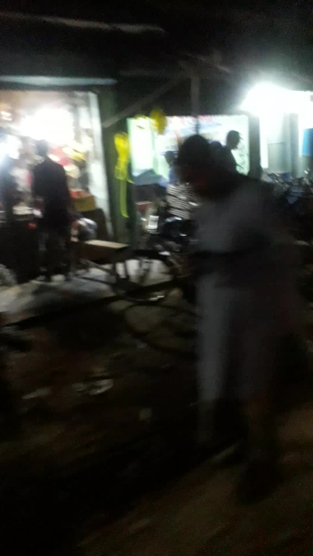 Beauty view of the night markets of Comilla district