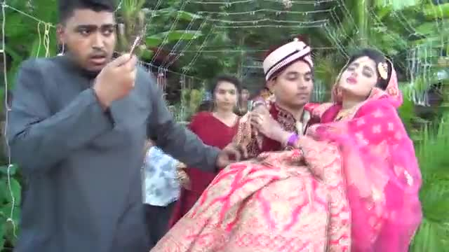 The video of the wedding ceremony has been shared among you from Satkhira