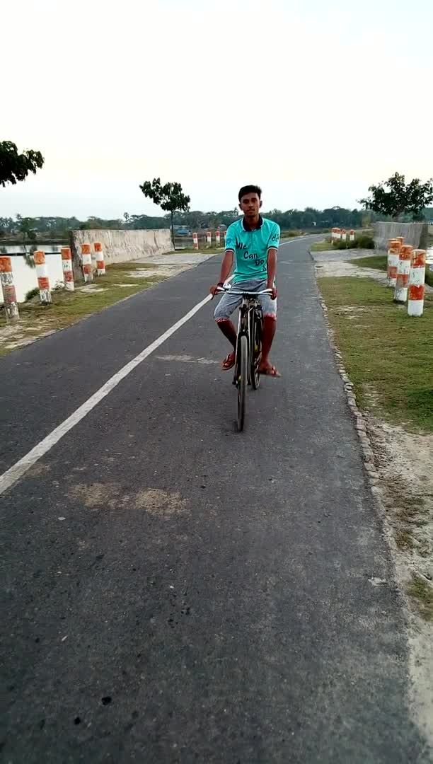 An amazing view of my cycling on the Asashuni Bypass Road