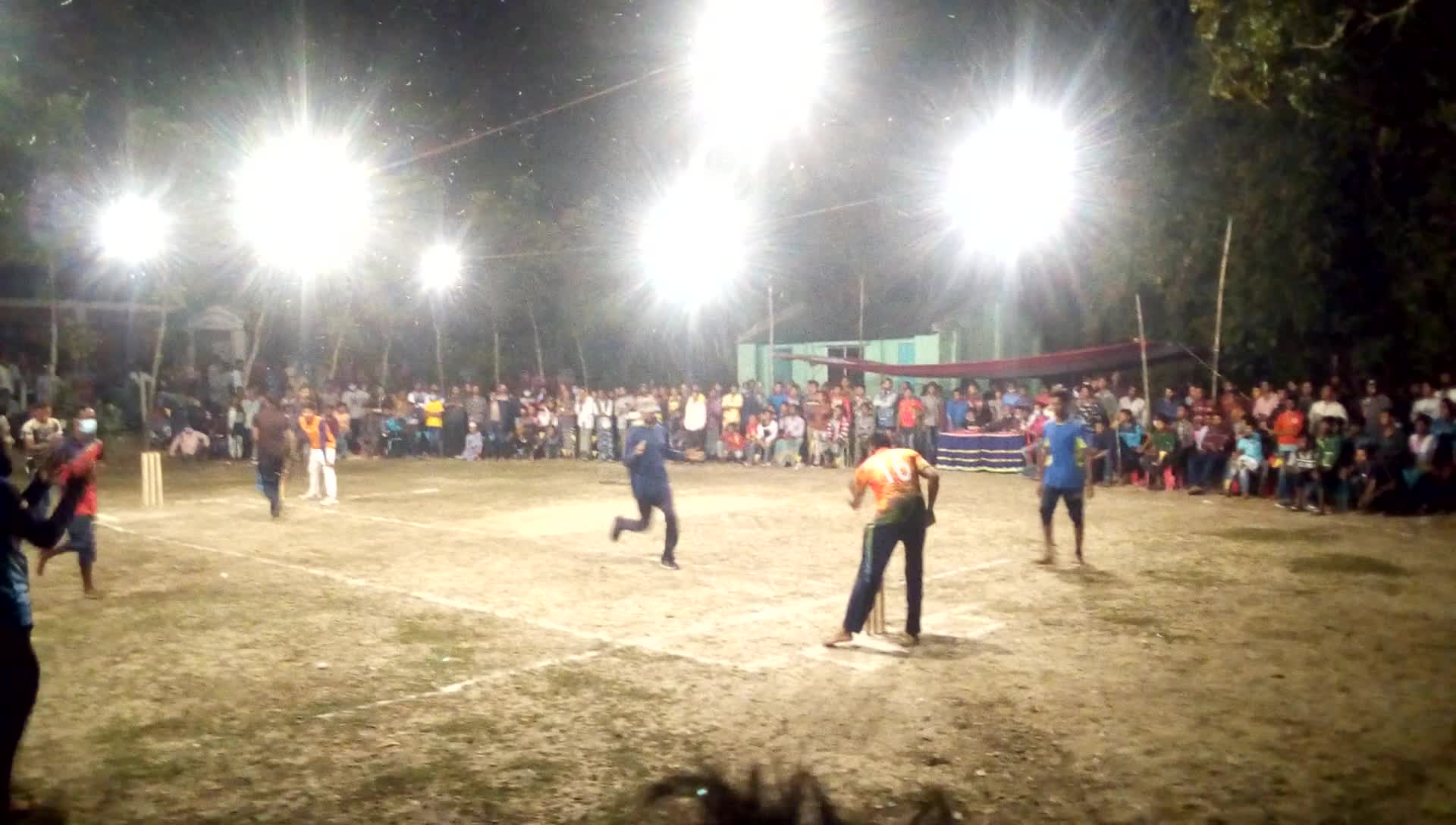 An eight-team knock-out cricket tournament is being played tonight at Asashuni Gachatala village