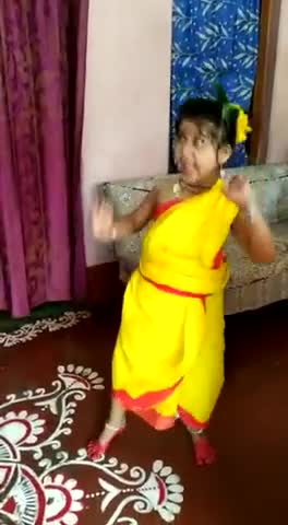 Satkhira district girl's home and she wants to be a dancer when she grows up so her parents have been teaching dance since childhood.