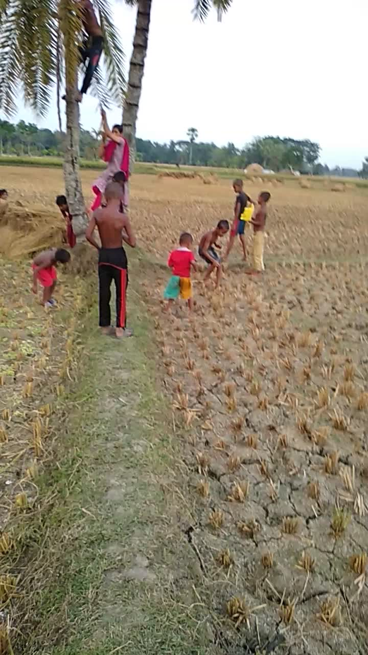 a video of young children playing in the village