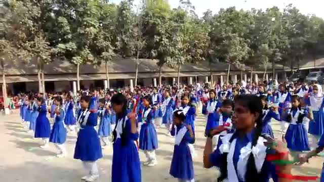 a video of students being beaten up at balughat girls high school