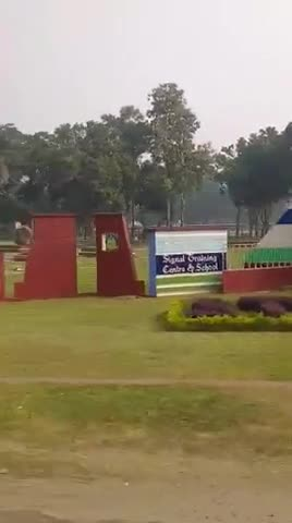 I made this video from inside the bus and a beautiful natural environment can be seen here and there are pictures of different types of cantonments.
