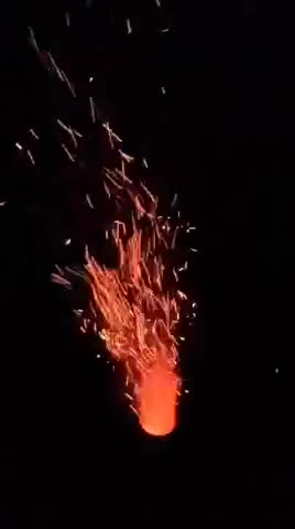 Spark video of data stove fire.