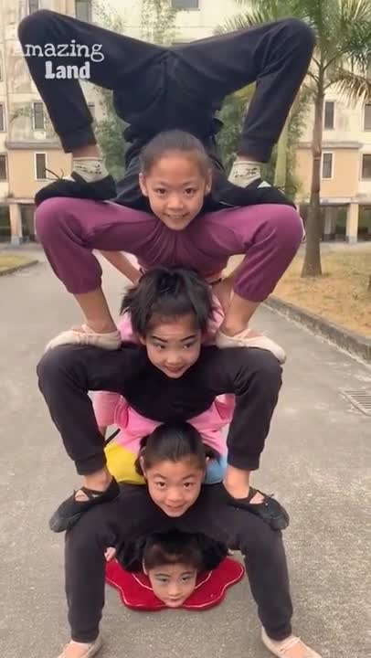 Great video of young boys and girls playing circus in Japan