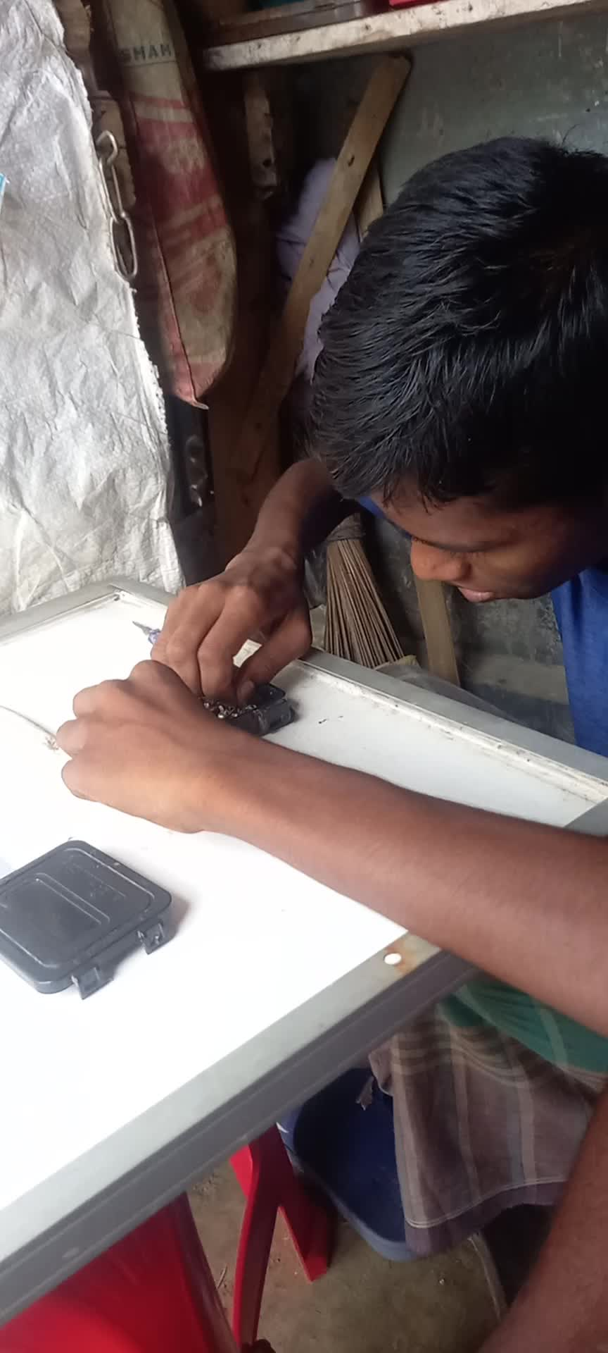 Bangladesh has a lot of electronics.  This video is showing you some of the work of such an electronic.