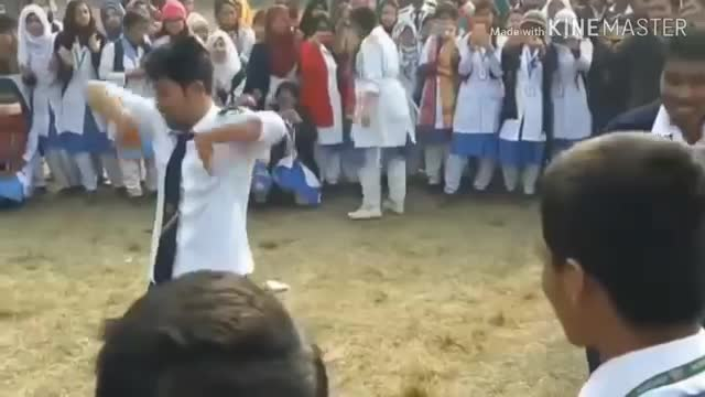National University students do a dance very nicely