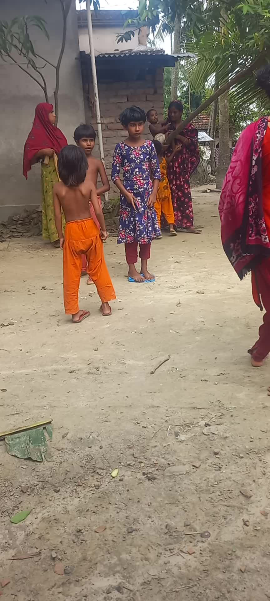 When you find some little boys in the village, you are shown a video of everyone playing together.