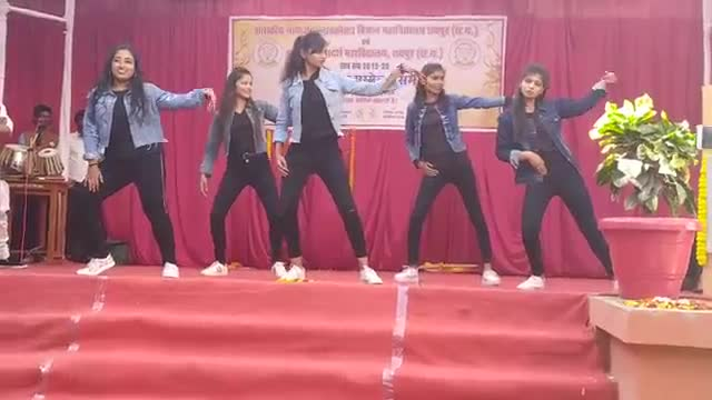 A beautiful dance competition