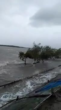 Cyclone amphan located in the area called Biralkhali on the river Patua and blowing at a speed of 160 kmph.
