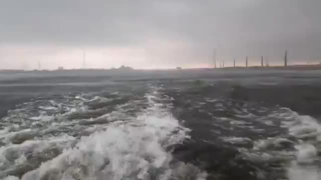 Passengers crossing the launch can see some of the stench as a result of this cyclone.