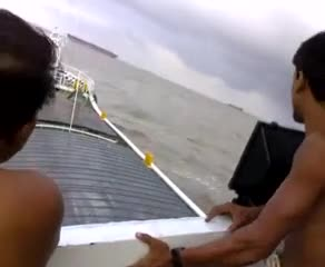 You can watch this video of some fish traders traveling by boat in the Bay of Bengal.