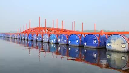 Jessore in Bangladesh has built the longest floating bridge in the world.