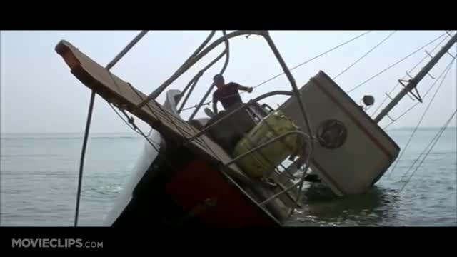 A video of a ship sinking in the middle of the sea